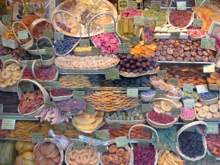 Gedroogde vruchten Spanisches Fruchthaus in München