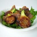 Salade van gebakken vijgen met spek